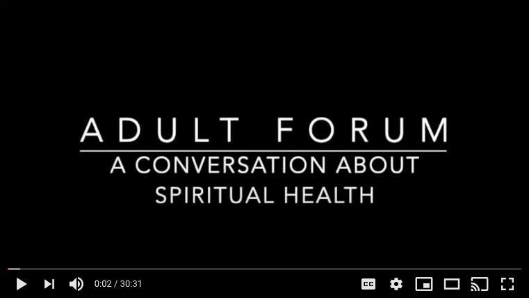 A Conversation about Spiritual Health, November 15