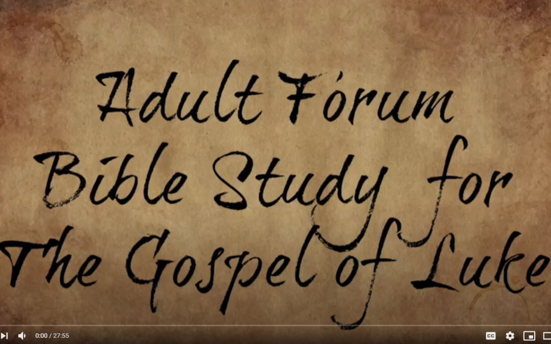 Adult Forum Mar 28: Luke 23 & 24